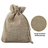 ADVcer Burlap Bags with Drawstring Set, 5.5 x 4 and 4.8 x 3.5, Sacks 20 for Small Favor, Gift, Treat, Goodie, Party, Jewelry, Little Sachet, Coffee Bean, Mini Decor, Craft, Candy, Tea Storage (Linen)
