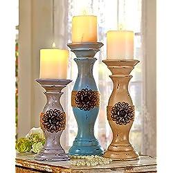 Set of 3 Vintage Inspired Candleholder Set by GetSet2Save