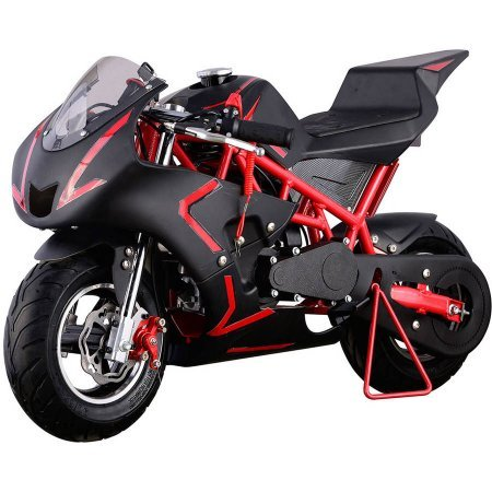 Hoverheart Mini Gas Power Pocket Motorcycle Ride-on 40CC 4-Stroke (Red/Black) ()
