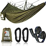 Covacure Camping Hammock Lightweight Portable Double Parachute Hammocks, Mosquito Nylon Hammock Indoor,Outdoor, Hiking, Camping, Backpacking, Travel, Backyard, Beach