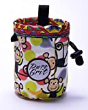 Little Kid Sized Swinging Monkey Chalk Bag for 3-8 Year Olds (Usa Made) By Pure Grit