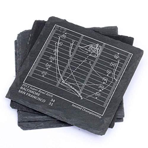 - Greatest Ravens Plays - Slate Coasters (Set of 4)