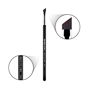 Eyeliner Brush Fine Angled - PRO Precision Eye Liner Makeup Brush -Ultra Thin Slanted Flat Angle - Premium Quality - Cruelty Free Synthetic Bristles - Apply Gel Powder Liquid Cream