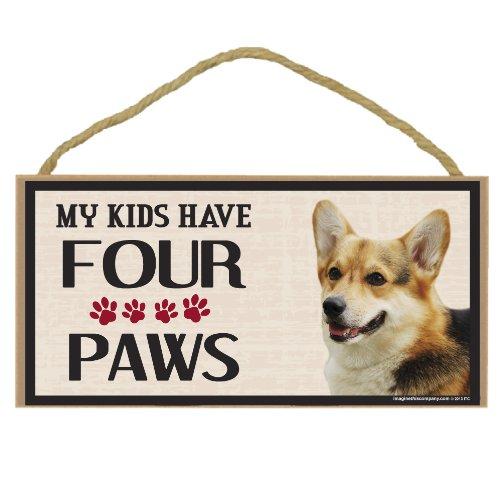 Imagine This Wood Breed Four Paws Sign, Corgi
