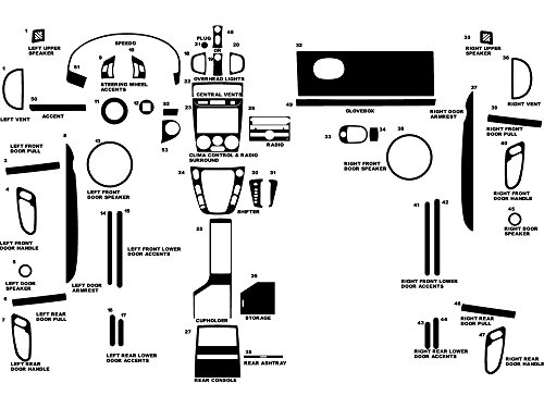 - Rdash Dash Kit Decal Trim for Saturn Vue 2006-2007 - Matte (Silver)