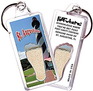 """product image for St. Augustine """"FootWhere"""" Key Chain. Made in USA (StA104 - Lighthouse)"""