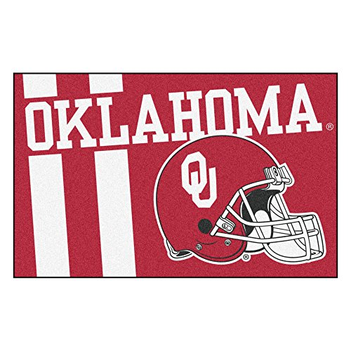 FANMATS 18770 Oklahoma Uniform Inspired Starter Rug