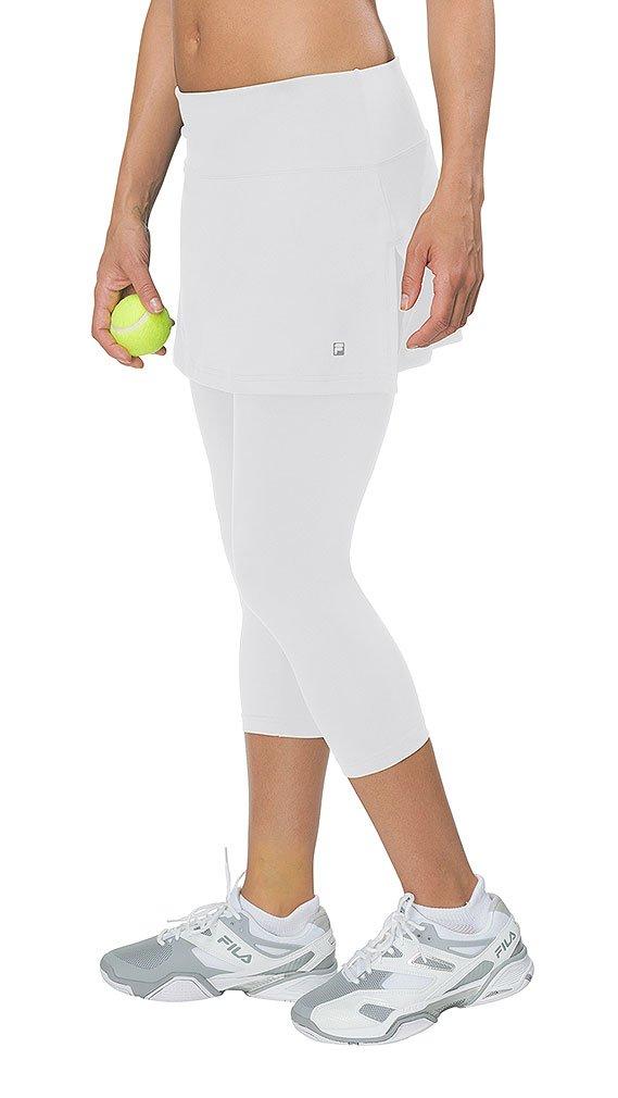 Fila Women's Skort Waistband Capri Pants M White