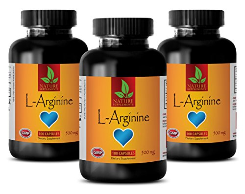 Nitric oxide boosters for sex - L-ARGININE 500MG - Arginine cardio power - 3 Bottle (300 Capsules) by NATURE SUPPLEMENTS