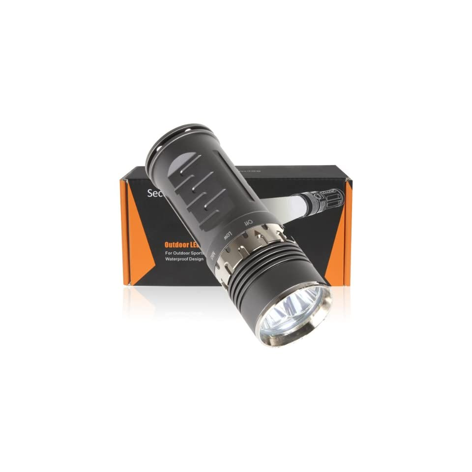 SecurityIng® 3X T6 LED Flashlight 4 Modes 3800 Lumens Super Bright LED Lighting Lamp Flashlihgt Torch