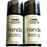 (Combo Set) Awakening HANDS Magnesium-Rich Hydrating Hand Therapy Cream for Dry, Cracked Skin. Two 3.38oz/100ml pump bottles (Total Qty 6.7oz/200ml)