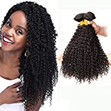 Brazilian Kinky Curly Hair Bundles Unprocessed Virgin Curly Human Hair Weaves Short Sexy