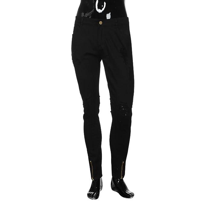 Amazon.com: YJYDADA Pants,Men Slim Biker Zipper Denim Jeans ...