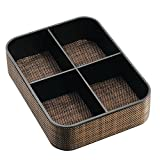 InterDesign Twillo 4-Section Stacking Divided Tray, Bronze