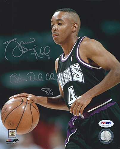 Autographed Slam Dunk - SPUD WEBB AUTOGRAPHED 8X10 PHOTO SACRAMENTO KINGS