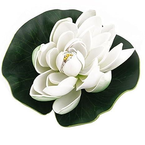 Whyyudan Acuario de espuma para acuario, acuario, acuario, acuario, pecera, flor de loto: Amazon.es: Hogar