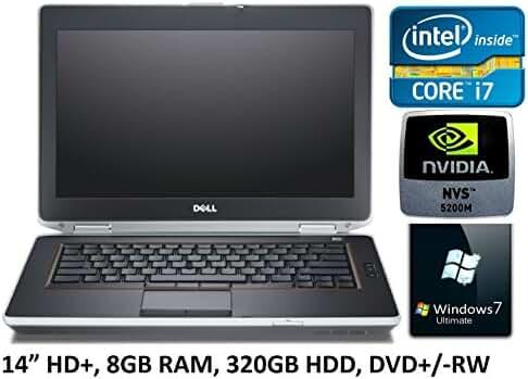 "Dell Latitude E6430 14"" Business Laptop PC, Intel Core i7 Processor, 8GB RAM, 320GB HDD, DVD+/-RW, Nvidia 5200M Graphics, Windows 7 Ultimate (Certified Refurbished)"