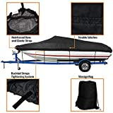 iCOVER Waterproof Heavy Duty Boat Cover, Fits