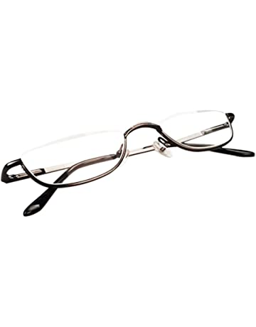 e212e2f1dab4 Inlefen Unisex Half Moon Half Frame Reading Glasses Metal Material frame  Spring Hinges Eyewea