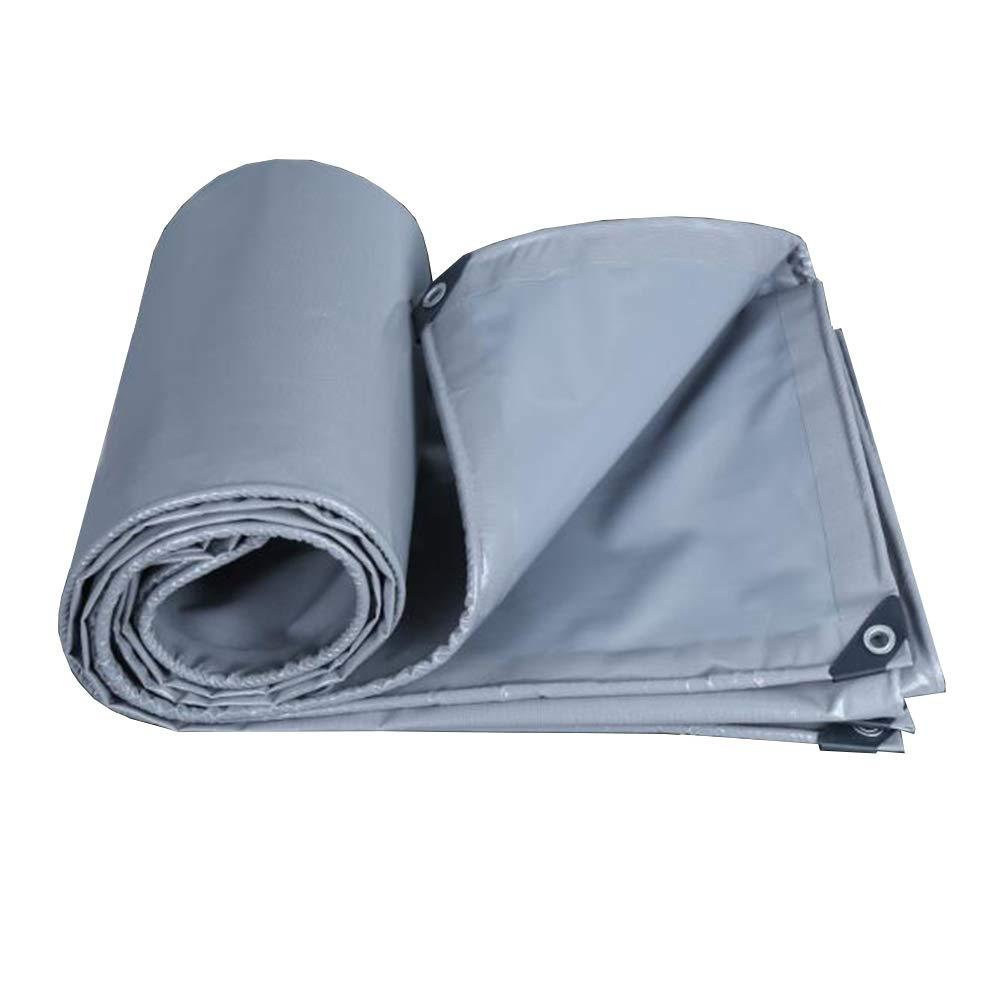 MUMA ターポリン 灰色 厚い 耐寒性 防水 日焼け止め 覆う 雨 シェード トラック (色 : Gray, サイズ さいず : 2*2.5m) 2*2.5m Gray B07KCWHNDB