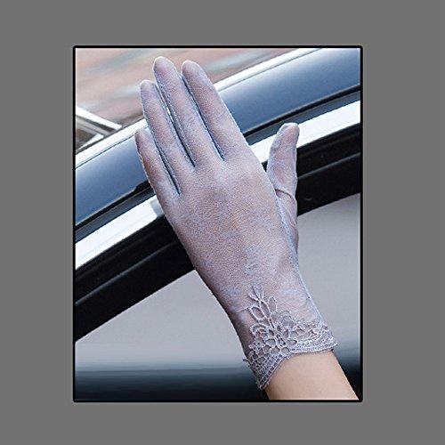 Coio 女性手袋 レディースUVカット レース 薄手日焼け防止 紫外線カット ブライダル手袋(スタイル14)