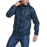 Men's Military Tactical Middleweight Hooded Jacket Slim Fit Casual Multi-Pocket Outwear Jacket Coat Travel Jacket Zip Up Hoodie 9 Pockets Blue L