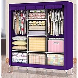 Generic New Portable Folding Clothes Closet Wardrobe Armoires Storage Rack Garment Hot