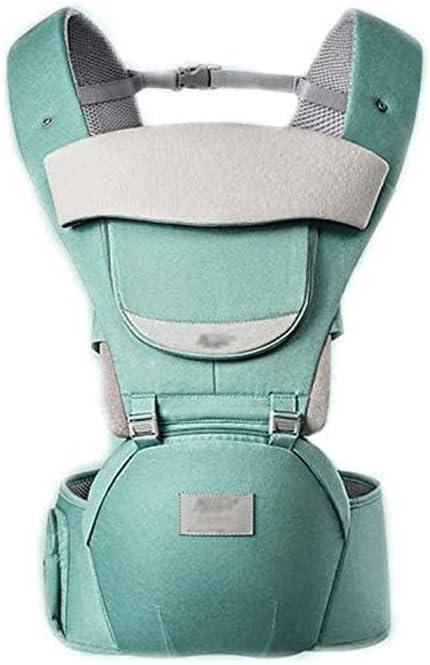 Sdesign Porta bebé recién Nacido for Wrap - Abrigo del bebé Portadores Delantera y Trasera, Ajustable y Transpirable de empañar Wrap ergonómico La Lactancia Materna Porta bebé (Color : Green)