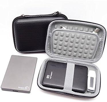 2,5 Zoll und WD My Passport Ultra 6,35 cm tragbares externes Ger/ät Guanhe Festplatten-Tragetasche f/ür Seagate Expansion und Backup Schwarz