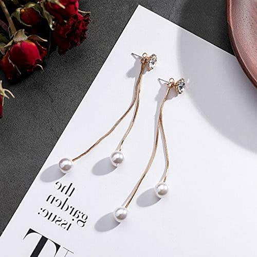Monowi Elegant Korean Style Women Crystal Drop Dangle Earrings Ear Stud Fashion Jewelry | Model ERRNGS - 18734 |
