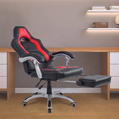 51GP i%2B8 rL - Acepro Reclining Chair Executive Racing Style Gaming Office Computer Versatile Desk Chair High Back with Footrest PU Leather 360 Degree Swivel Chair