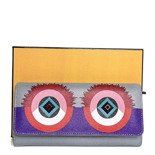 Continental wallet in multicoloured leather (Purple, red, blue, pink) ()