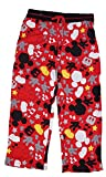 Disney Mickey Mouse Womens Pajama Pant With Silhouette Print - Red Black