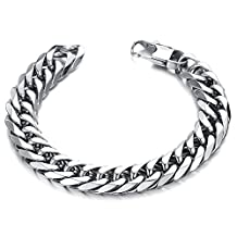 Fashionable Anti-fatigue Personalized Men's Bracelet Titanium Steel Chain Belt Wrist Bangle in a Gift Box