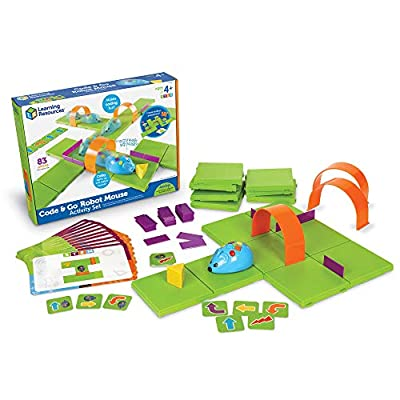 Learning Resources Code & Go Robot Mouse Activity Set, 83 Pieces, Ages 4+ & Code & Go Robot Mouse, Coding STEM Toy, 31 Piece Coding Set, Ages 4+: Toys & Games