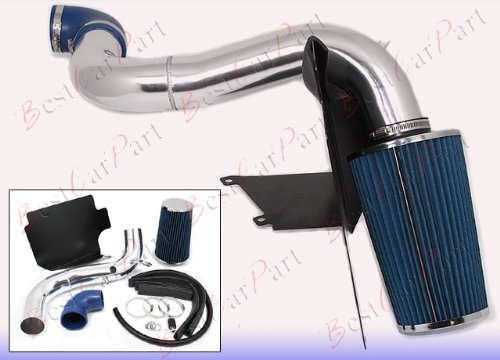 97 98 99 00 01 02 03 Chevy S-10 2.2L Heat Shield Cold Air Intake + Blue Filter HSICH2B by Click 2 Go