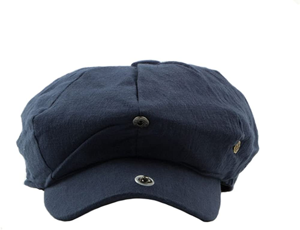 doublebulls hats Einstellbare Achteckige Schieberm/ütze M/änner Frauen Einfarbig Retro-Stil Flatcap Kappen Hatteras Gatsby