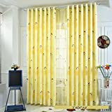 FADFAY Fairy Girls Light Yellow Curtains Cute Cartoon Princess Girls Custom Made Curtains For The Bedroom 6Panels