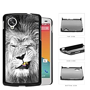 Lion With Gold Teeth Smirking Hard Plastic Snap On Cell Phone Case LG Nexus 5