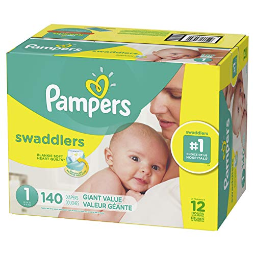 Diapers Size 1, 140 Count - Pampers Swaddlers Disposable Baby Diapers, Giant