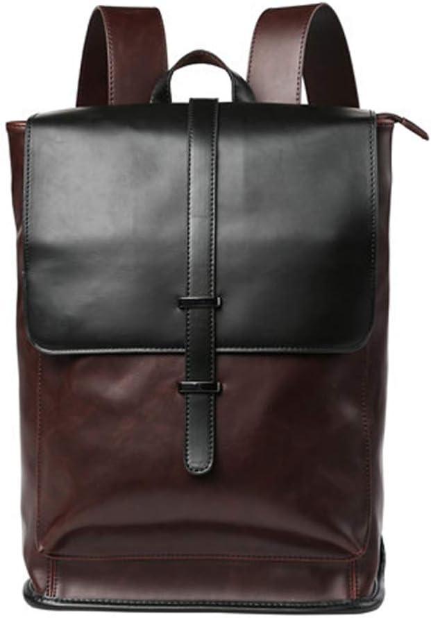 Shoulder Computer Bag Mens Backpack Simple Fashion Trend Business Travel Bag Student Leisure Bag Color : A