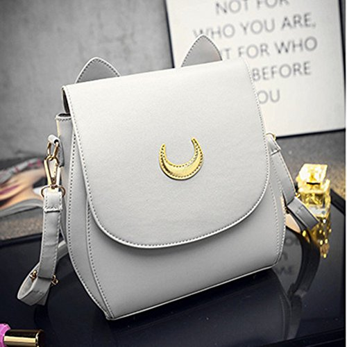 PU Shool Leather Tsukino moon Grey Women's Usagi Backpack Cosplay Sailor MIUNIKO Bag 0xqzHwYBW