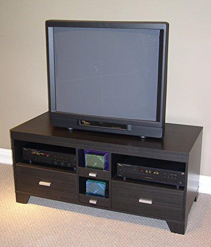4D Concepts Large TV Stand, Black Wood Grain 4d Concepts Tv Stand