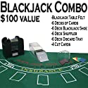 プロフェッショナルブラックジャックカジノスタイルデラックス6-deckセット–Includes Bonus 100Poker Chips 。