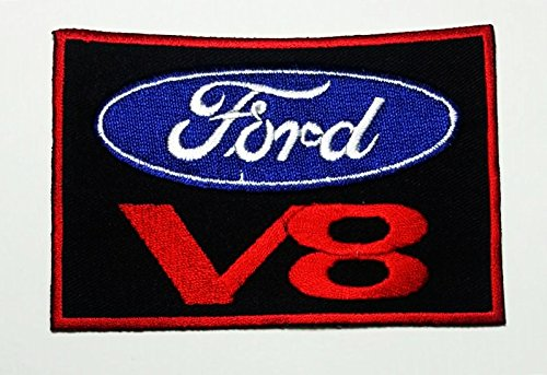 Ford V8 Cobra Shelby Mustang Gt500 Logo Racing Jacket T-shirt Patch Sew Iron on Embroidered Badge