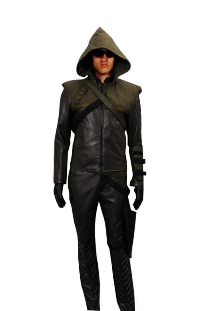 CosDaddy® Cosplay Costume Oliver Queen Green Arrow Hoodie,Men-Large