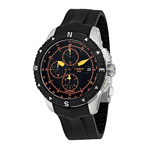Tissot Men's T0624271705701 T-Navigator Swiss Automatic Chronograph Watch (Chronograph Pvd Swiss)