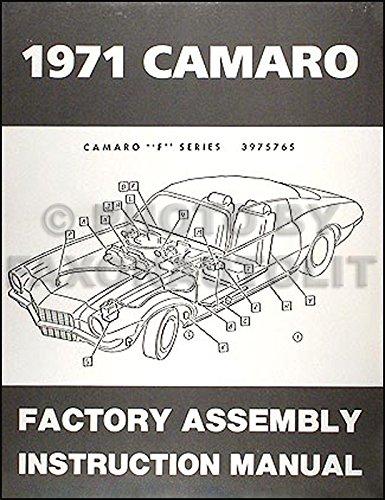 1971 Camaro Reprint Factory Assembly Manual ()
