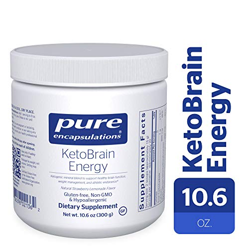 Pure Encapsulations - KetoBrain Energy - Hypoallergenic Supplement Supports Brain Function, Weight Management, and Athletic Endurance* - 300 Grams