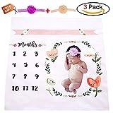 Baby Milestone Blanket Month blanket Photography Props ,Newborn Photo Blanket Photography Background, cute swaddling blanket for boys girls